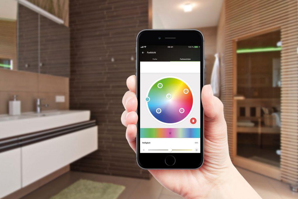 aplikacja do sterowania oświetlenia inteligentnego budynku