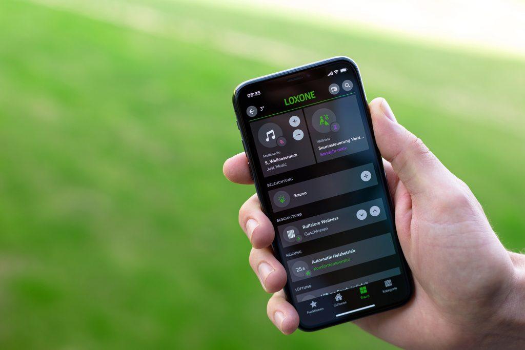 loxone aplikacja mobilna do sterowania sauną