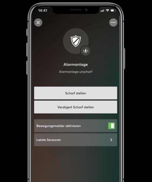 loxone alarm wyłączony w aplikacji mobilnej